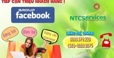 Dịch vụ facebook giúp bán hàng online hiệu quả của NTCServices.
