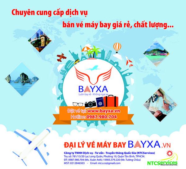 Dịch vụ đặt vé máy bay giá rẻ trực tuyến BayXa.vn