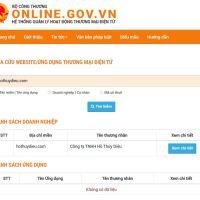 Quy trình thông báo và đăng ký website TMĐT với Bộ Công Thương