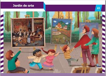"Mi álbum preescolar primer grado ""Jardín de arte"" Página 22"