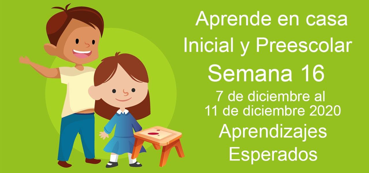 aprende en casa semana 16 preescolar e inicial