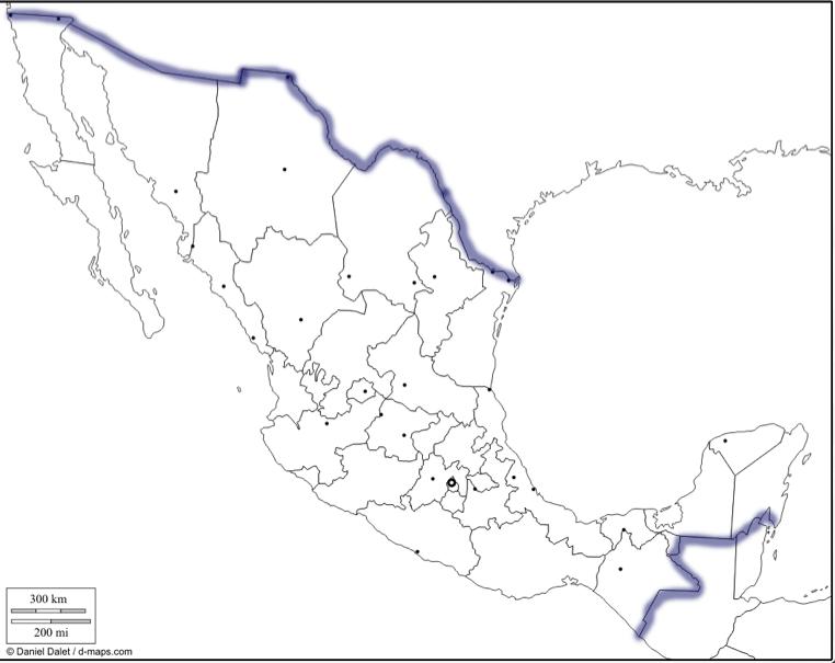 México en una perspectiva geográfica: Límites Territoriales
