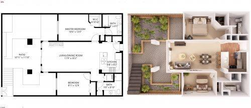 Tarifa CEE, Planos 2D y 3D para Inmobiliarias - PASEOVIRTUAL3D MATTERPORT  SEVILLA CADIZ VISITA VIRTUAL 360