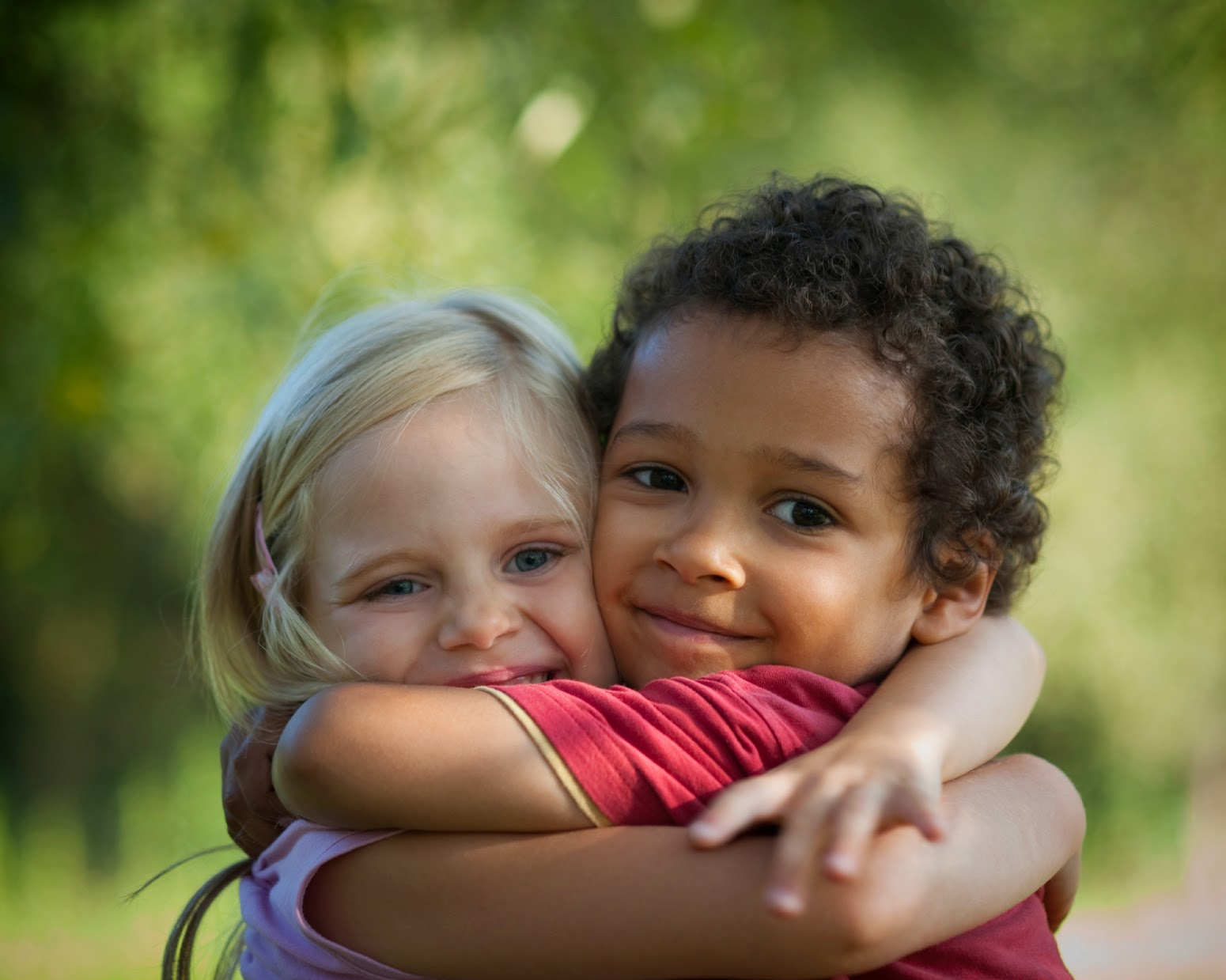 Children-hugging