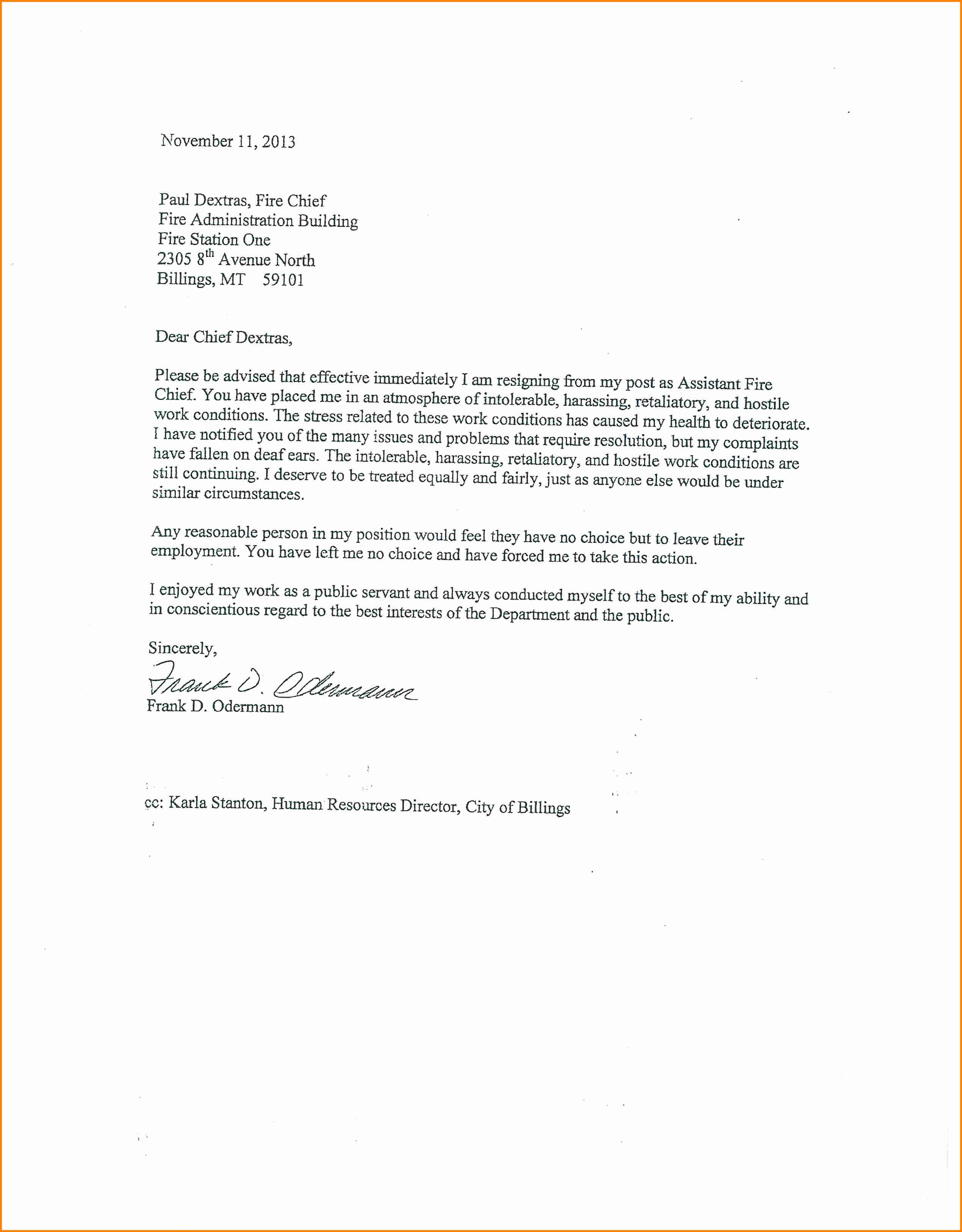 Grievance Letter Employer Template