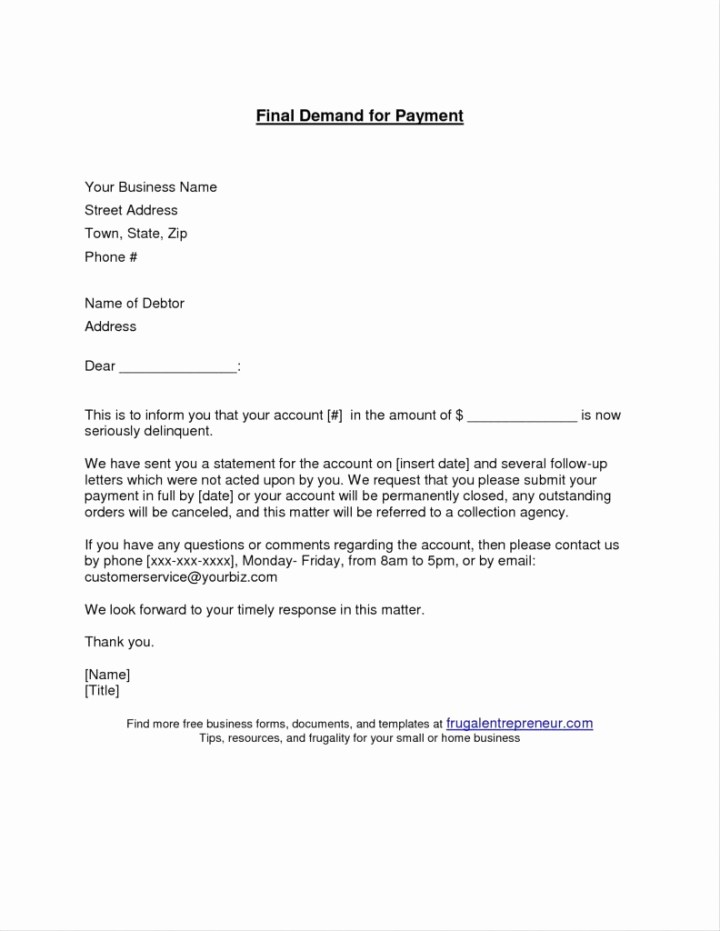 10 Day Demand Letter For Payment Letterjdi Co