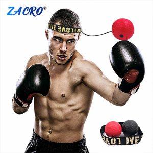 Boxing Reflex Speed Punch Ball MMA Sanda Boxer Raising Reaction Force Hand Eye Training Set Stress