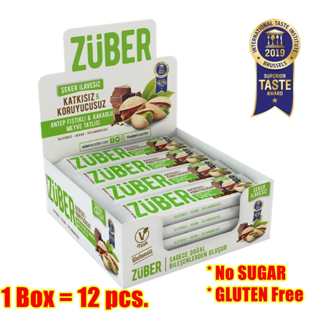 Protein bar snack chocolate pistachio 1 box 12 pcs 12 x 40 gr