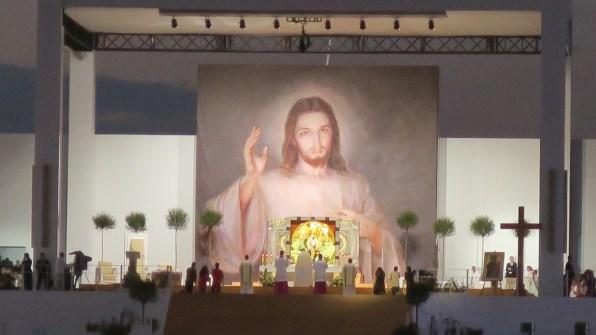 Adoration during the vigil