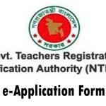 NTRCA e-Application Form Online