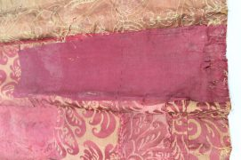 Pink plain silk patch – same as large patch in lining