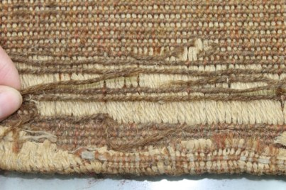 Reverse before conservation ©National Trust/Textile Conservation Studio