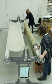 Gideon setting up ©National Trust/Textile Conservation Studio