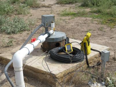 Water level monitoring devices installed in well casings for each aquifer on Hualapai Tribal lands.