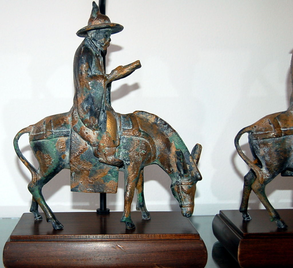 Cast Bronze Figurine Lamps By Frederick Cooper Swank