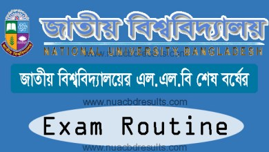 LLB Final Exam Routine