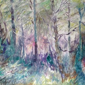 Forests edge - Monotype on paper - John Keating - Nua Collective - Artist