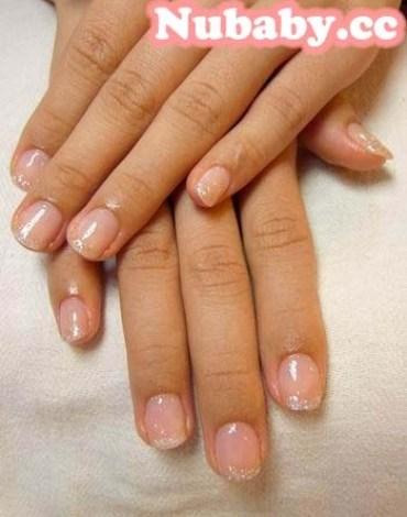 美甲作品-白皙粉橘/粉色優雅蕾絲/花樣銀鑽/紫色情迷