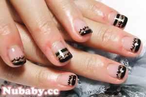 2011 12 06 21 07 02 - [彩繪指甲教學]如何手工畫蕾絲結合凝膠(凝膠)指甲