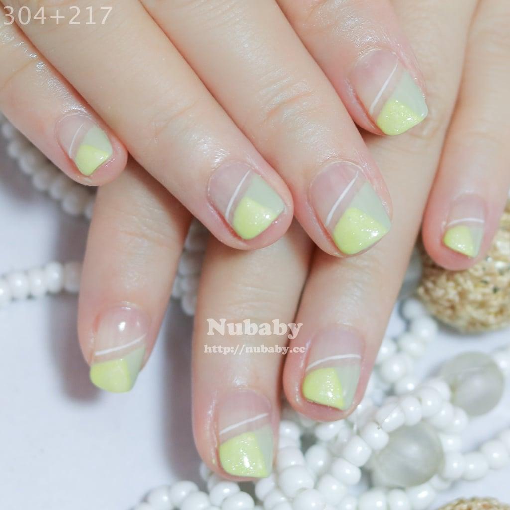 20160625 nail art fix 5 - [美甲作品] 斜法凝膠指甲