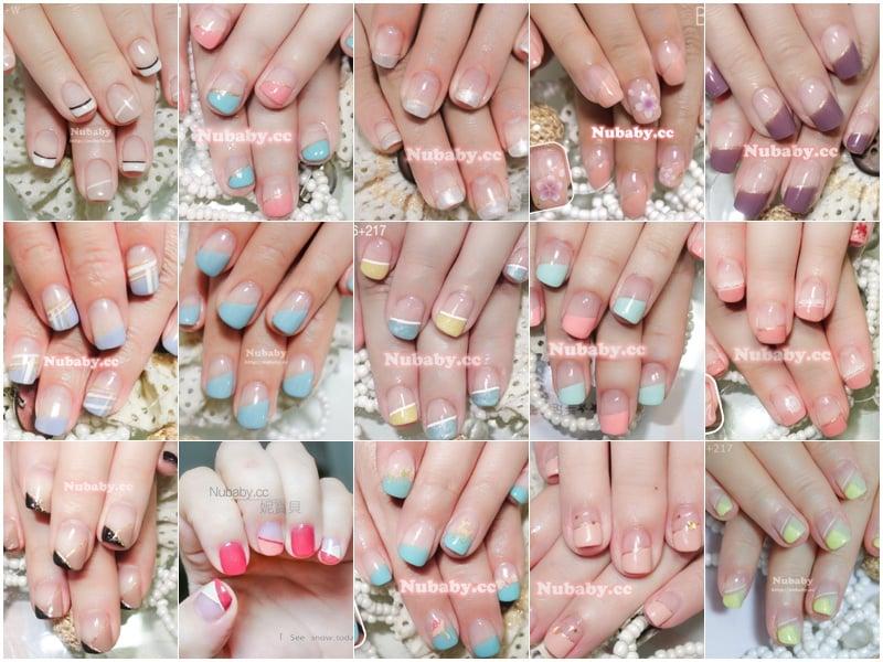 美甲作品-斜法凝膠指甲