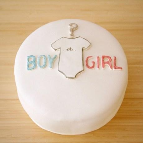 tarta para desvelar el sexo de bebe 2