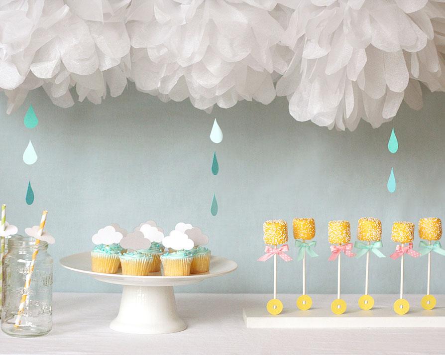 Baby Shower entre nubes y lluvia