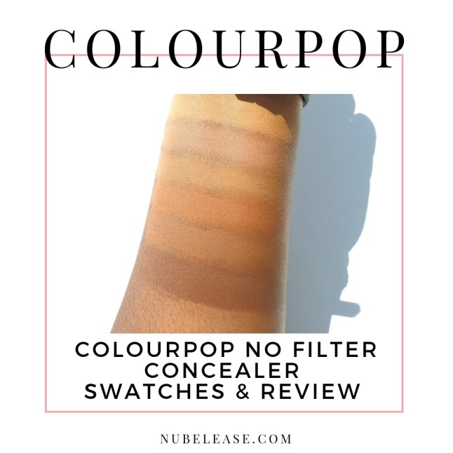 Colourpop No Filter Concealer Review and Swatches