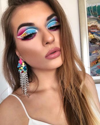Colourful Summer Makeup Look
