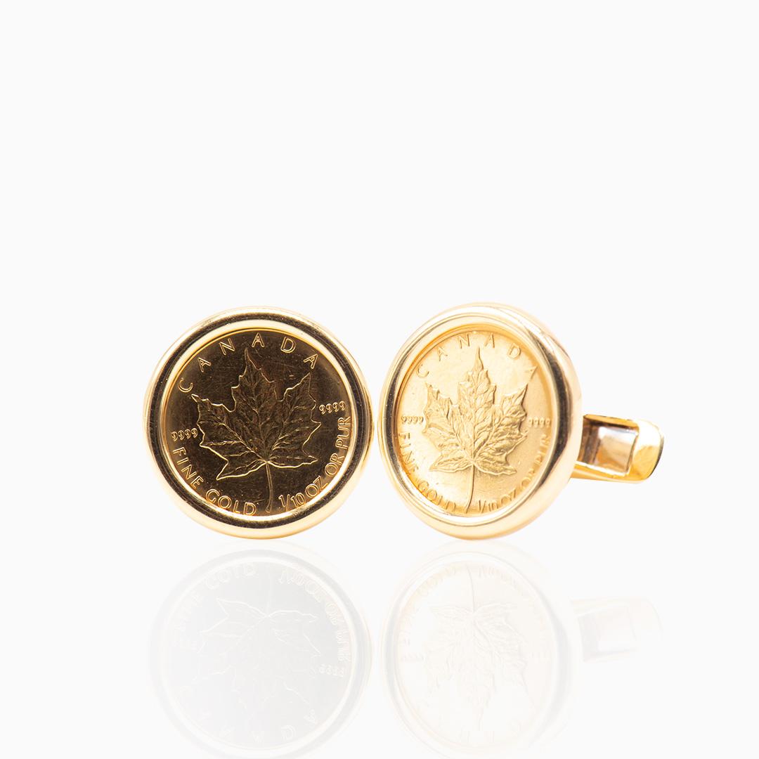 Gemelo Moneda de Oro