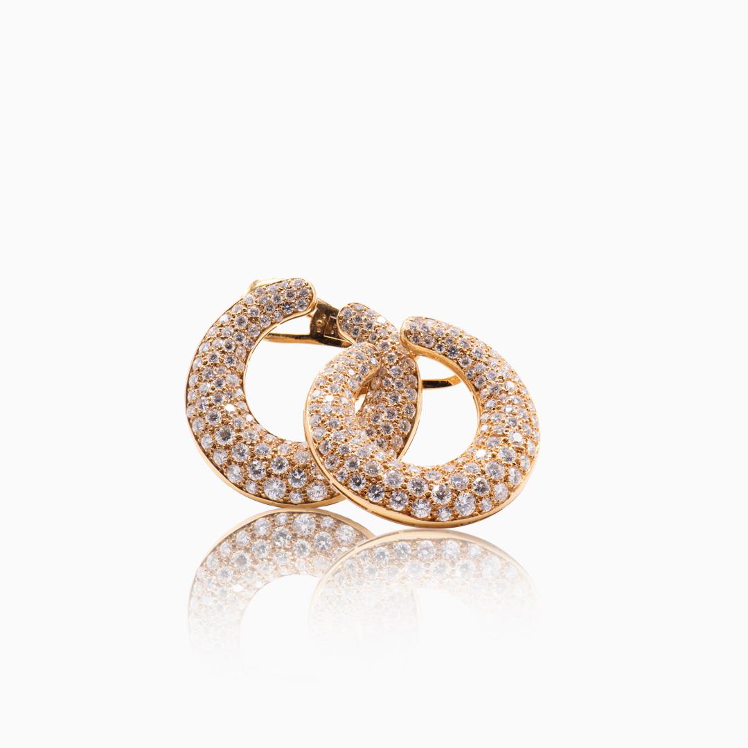 Aretes de Oro y Diamantes