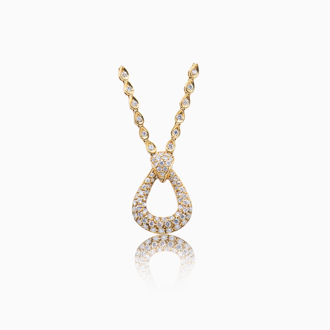 Gargantilla con Colgante de Oro y Diamantes