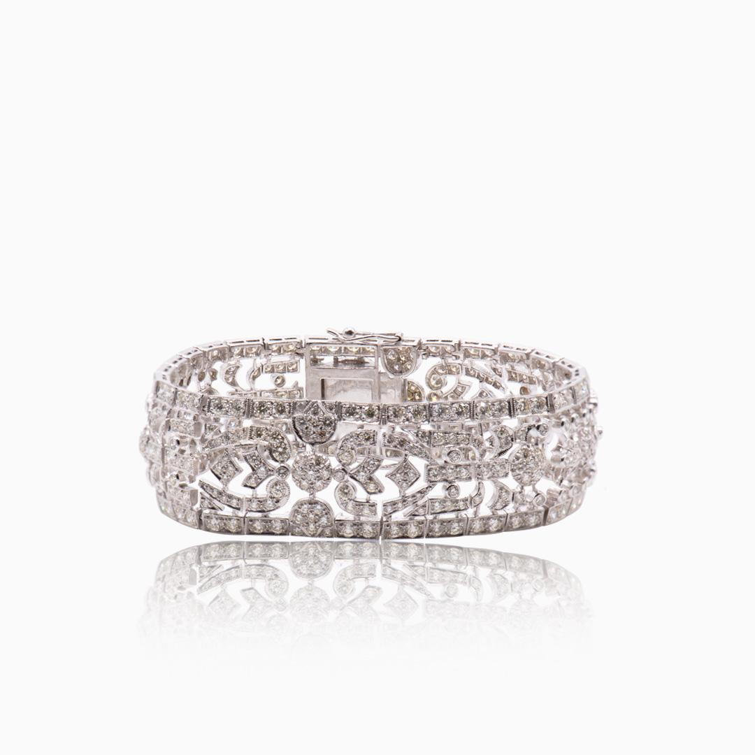 Pulsera Oro Blanco y Diamantes