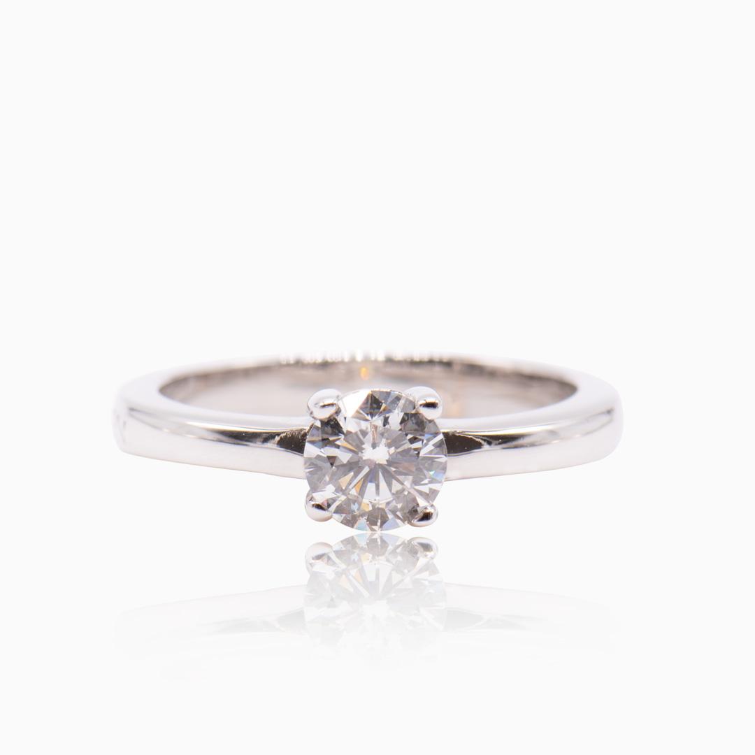 Anillo Oro Blanco y Diamante