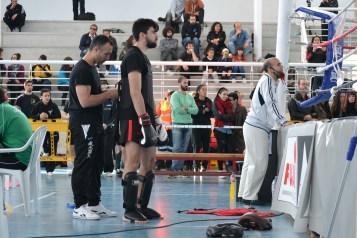 Didier Cancedda preparando a Sergio para el combate de Sanda