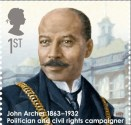 John Archer 2013 postage stamp