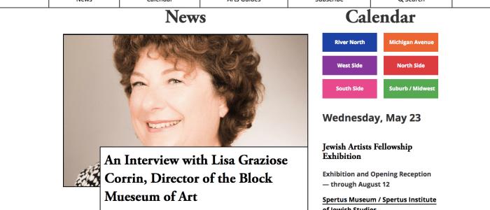 Chicago Gallery News Spotlights Block Museum Director Lisa Corrin