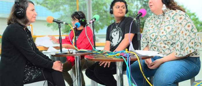 Wattz Up! Yollocalli's Pop Up Youth Radio broadcasts from The Block Museum
