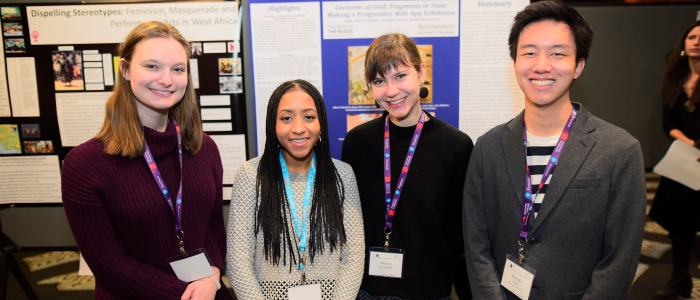 Scholarship in Action: Undergraduates highlight their Block research at College Art Association conference