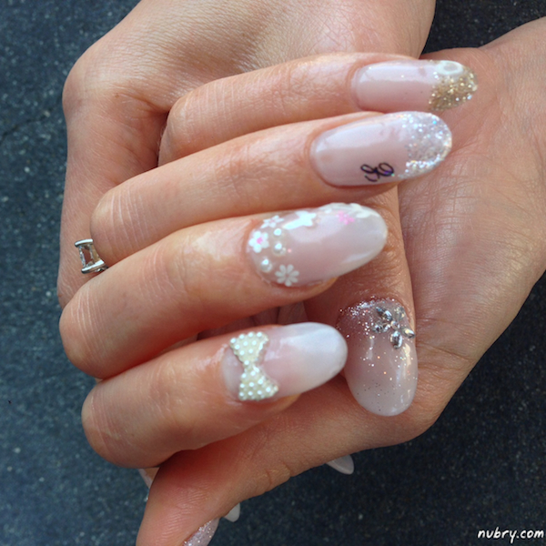 Pretty bridal nails with 3d nail art and white rose for my wedding these are my nails for my classic romantic styled wedding prinsesfo Choice Image