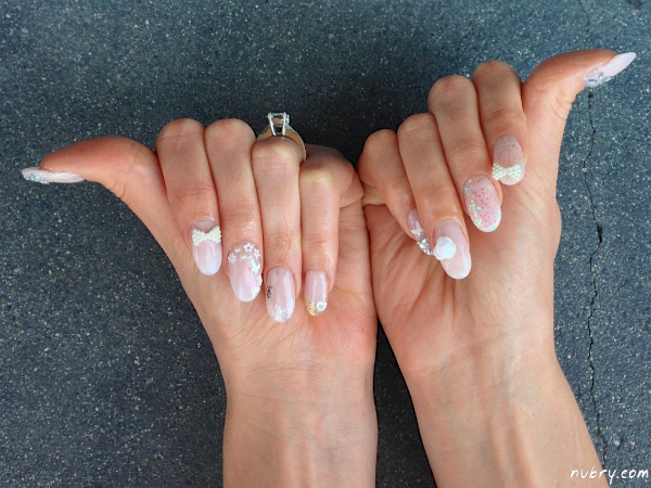 Pretty bridal nails with 3d nail art and white rose for my wedding bridal nails with 3d nail art for my wedding prinsesfo Choice Image