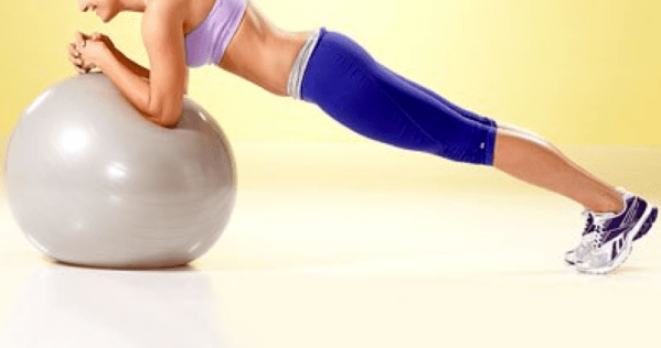 abdominal exercises for women - stability ball - plank - stir the pot