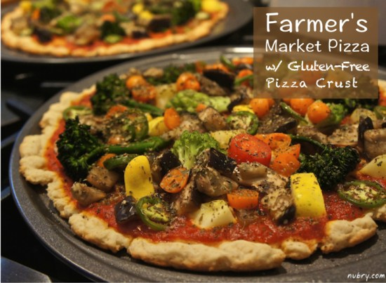 Gluten Free Pizza Recipe - Healthy Vegan Farmers Market Pizza