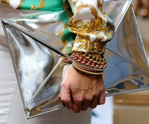 metallic clutch for fall winter 2014 holiday - street style