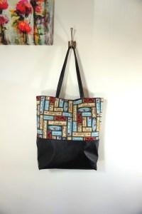 Simple Pleasures Words Blue Large Tote Bag