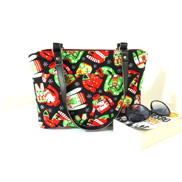 Ugly Sweater Black Zipper Handbag