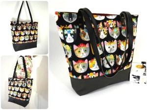 Cat Zipper Tote Bag