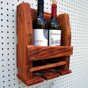 2 Glass Wine Racks