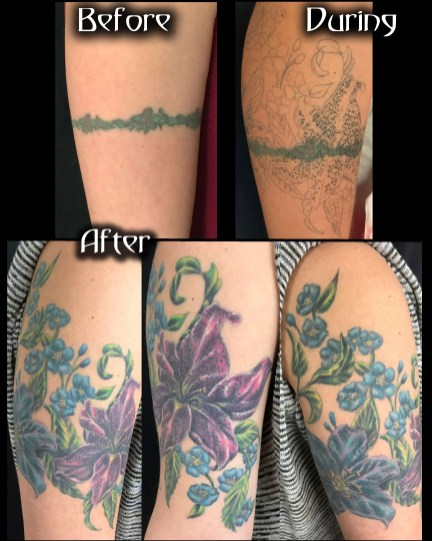 Flowers Cover up Armband