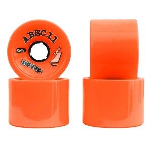 66mm ABEC11 Zigzag Orange Plus Wheels